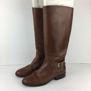 Etienne Aigner Tall Rich Brown Boots Size 7.5M